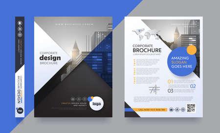 Affiche flyer brochure brochure couverture conception espace de mise en page pour arrière-plan photo, modèle de vecteur.