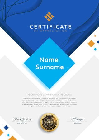 Certificate template with modern pattern