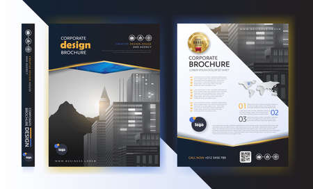poster flyer pamphlet brochure cover design layout space for photo background, vector template in A4 size Illustration