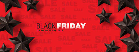 Black friday sale banner layout design template. Vector illustration