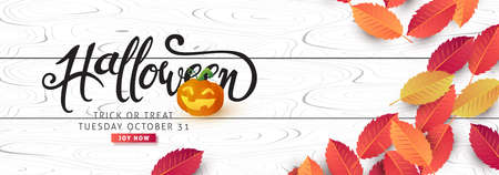 Happy Halloween banners party invitation background.Vector illustration . Ilustracja