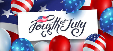 Independence day USA banner template gradient background.4th of July celebration poster template.fourth of july.