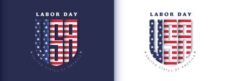 USA happy Labor day advertising banner template Stock Illustratie