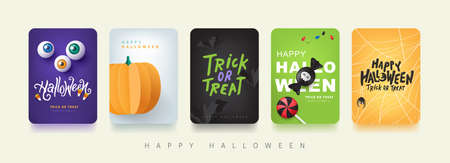 Happy Halloween banner or party invitation background Stock Illustratie