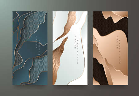 Vector set packaging templates japanese of luxury or premium products. Stock Illustratie