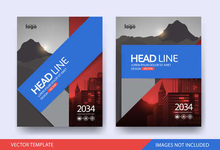 Corporate book cover design Layout template