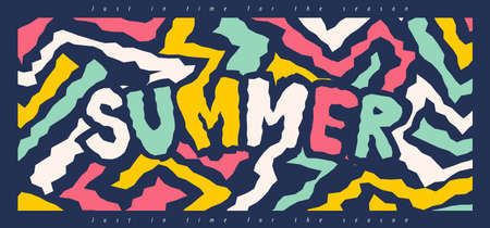Colorful Summer typography background layout banner background