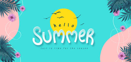 Colorful Summer background layout banner background