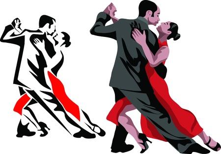 argentine tango pose Stock Vector - 10568651