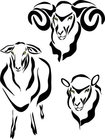 horned: logotipo de ovejas