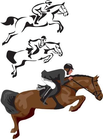 caballo de salto de obstáculos