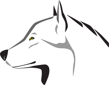 head of wolf Vector