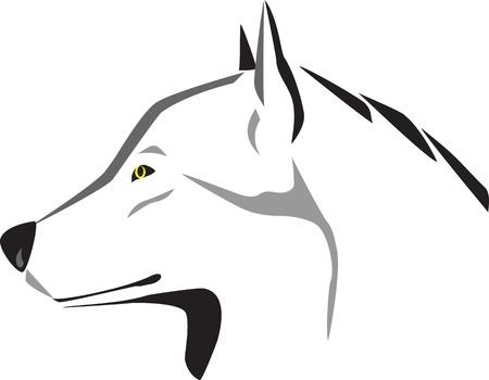 animal logo: head of wolf