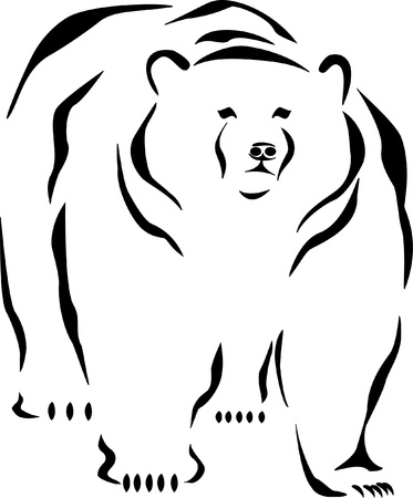 brown bear: bear logo