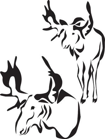 alce: alce logo Vettoriali