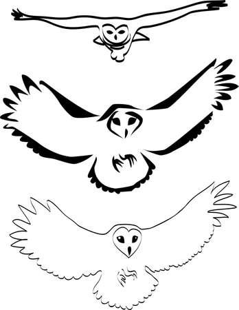 snowy owl: owl logo