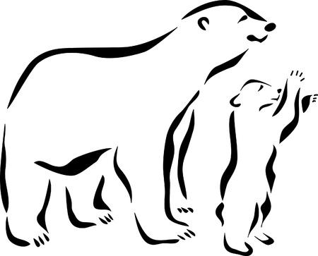 cachorro: logotipo de oso polar