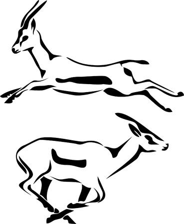 horned: gazelle logo Illustration