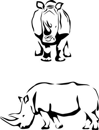 horns: rhino logo