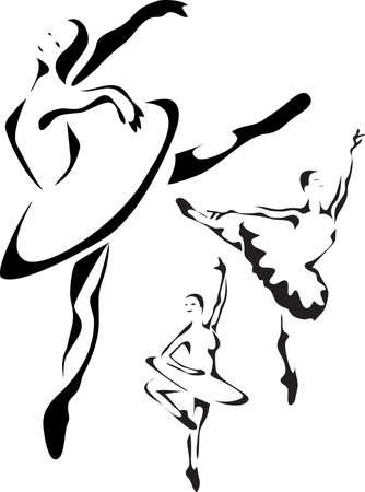 bailarina ballet: bailarina de ballet Vectores