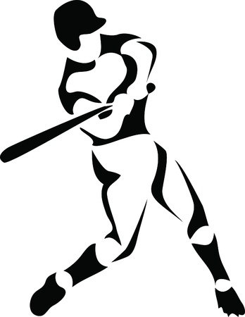 baseball player 向量圖像