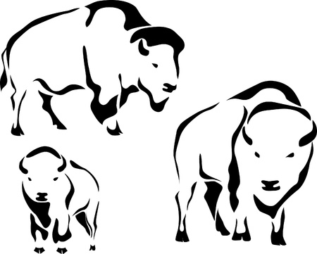 hoofed mammal: bison logo