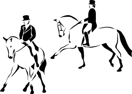 horse riding: dressage logo Illustration