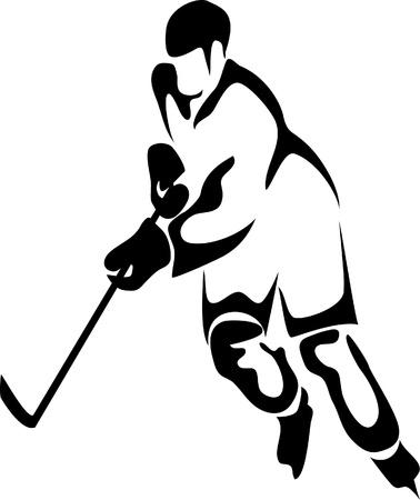 hockey player Stock Vector - 10735792