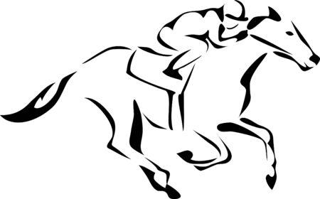 caballos corriendo: carreras de caballos logo