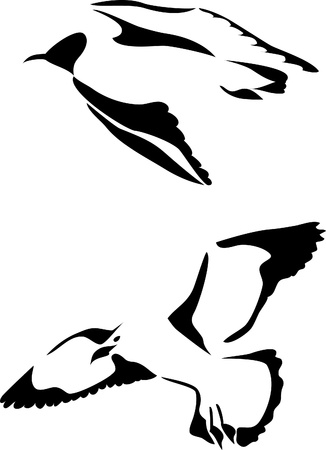 sea gull: gull logo Illustration