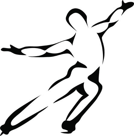 Eisläufer Vektorgrafik