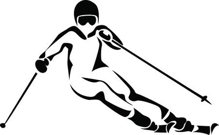 스키 타는 사람: 알파인 스키 로고
