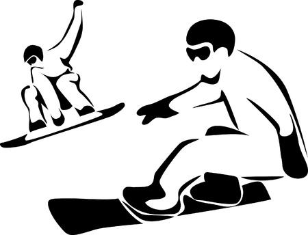 snowboarder: snowboarding logo Illustration
