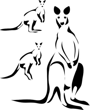 wallaby logo Stock Vector - 10735849