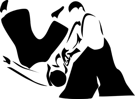 karate fighter: aikido logo