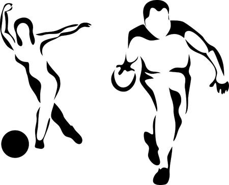frappe: joueur de quilles Illustration
