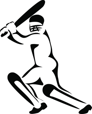 cricket sport: cricket player logo