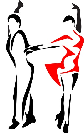 latin dance logo - chacha Stock Vector - 10771560