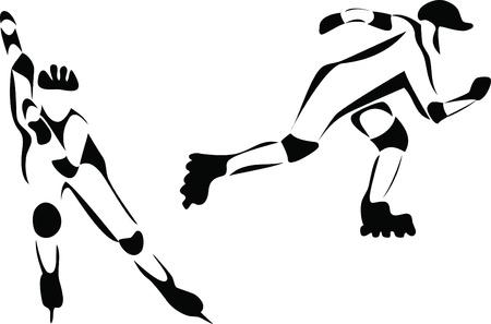 inline skater Vector