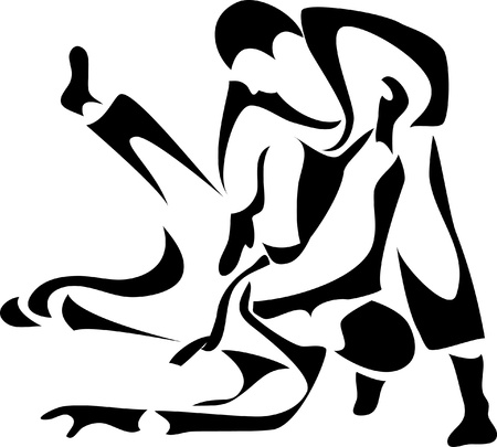 martial art: judo logo Illustration