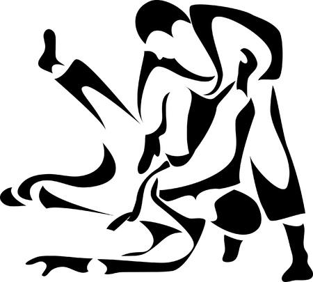 martial: judo logo Illustration