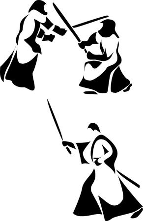 japan martial art - kendo, iaido Vector