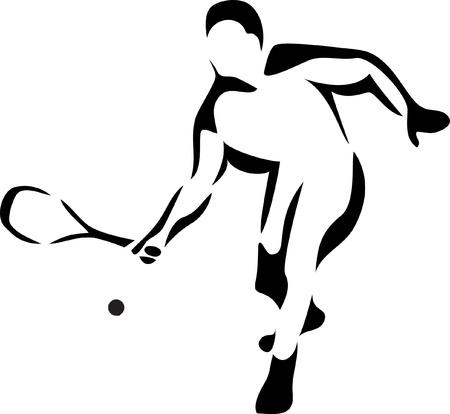 logo joueur de squash