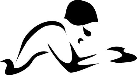 swim goggles: pecho del nadador Vectores