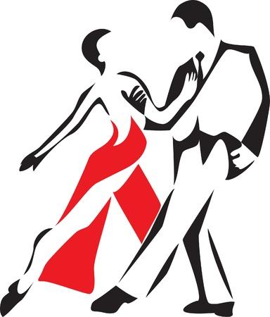 tanieć: logo tango Ilustracja
