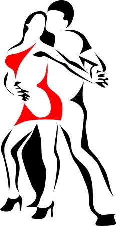 baile latino: logotipo de baile de salsa