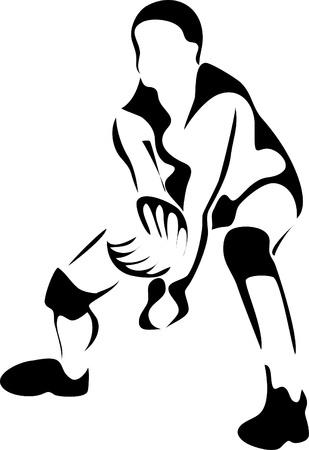 gym ball: volleyball logo Illustration
