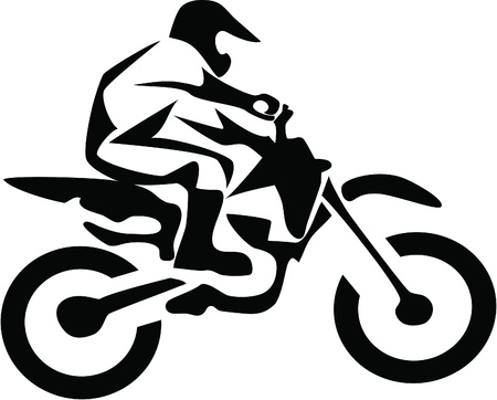 motorbike jumping: motocross rider Illustration