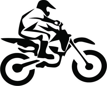 motocross rider Stock Vector - 10799655