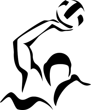 water polo: logotipo de waterpolo